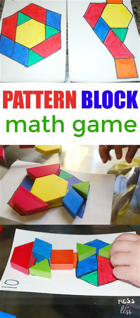 math pattern board games pattern block math game mess for less