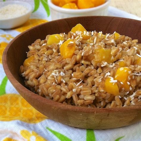 whole grains breakfast recipes tropical breakfast farro whole grains breakfast recipe