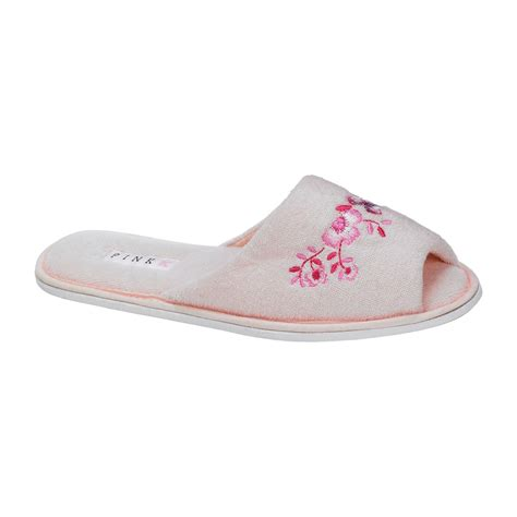 toe slippers pink k s brenton peep toe slipper pink