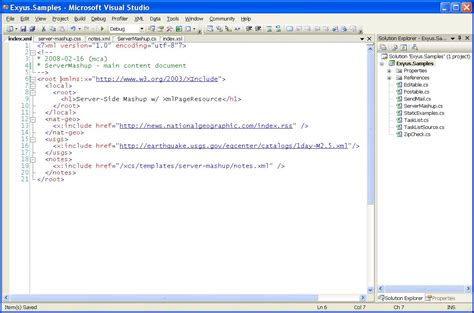 xml tutorial complete server side mashup tutorial