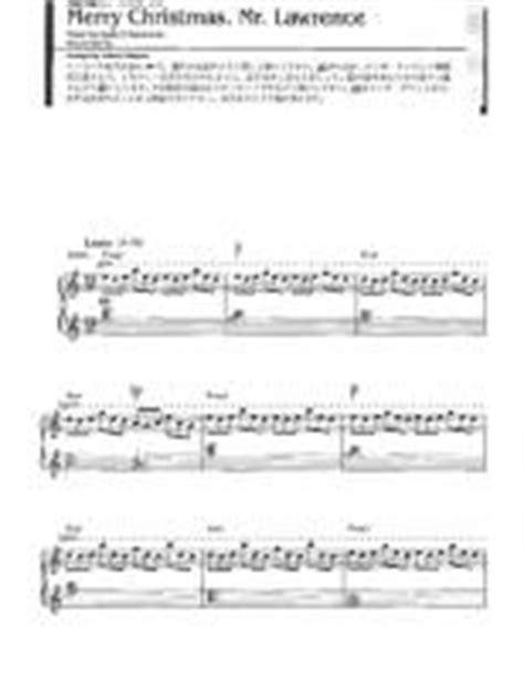 ryuichi sakamoto merry christmas  lawrence  downloadable sheet