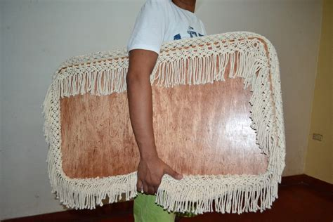 organic baby crib cradle hanging bassinet with macrame
