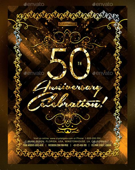 free 50th birthday card template 45 50th birthday invitation templates free sle