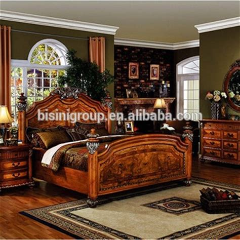 bisini antique luxury solid wood bedroom set view antique bisini luxury antique bedroom wooden furniture set buy