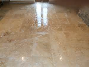 sealer problems resolved on travetine floor tiles