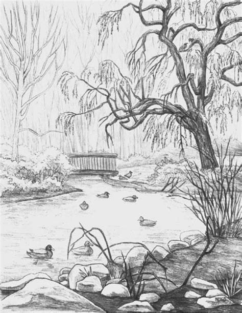 Landscape Drawing Drawing1 6 Landscape Drawing