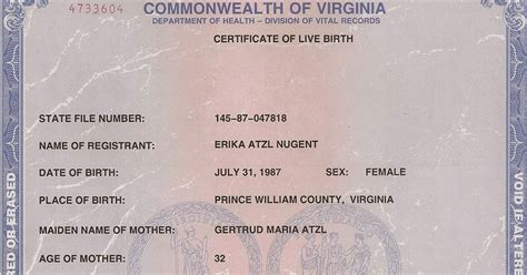 Vital Records Birth Certificate Application Get Vital Record Birth Certificate Birth Certificate Virginia Birth Certificate