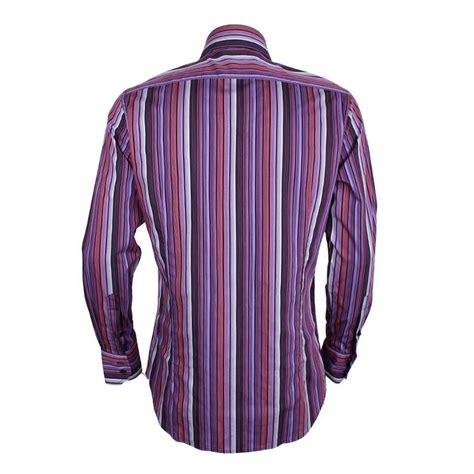 Sleeve Striped Shirt sleeve striped shirt purple multi david wej