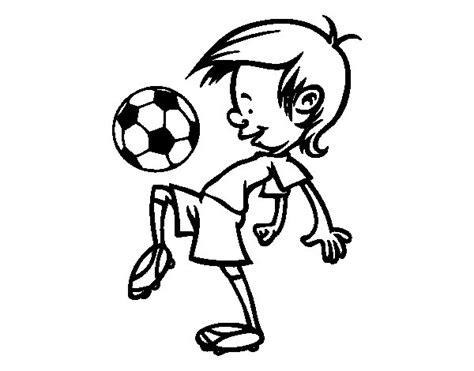 imagenes para pintar futbol dibujo de toques con el bal 243 n para colorear dibujos net