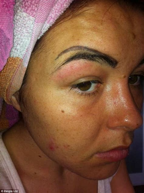 eyebrow tattoo fail meet the who was left with 4 eyebrows after eyebrow