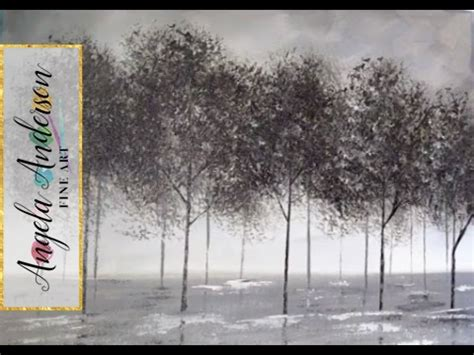 acrylic painting ideas black and white black and white trees part 1 beginner acrylic painting