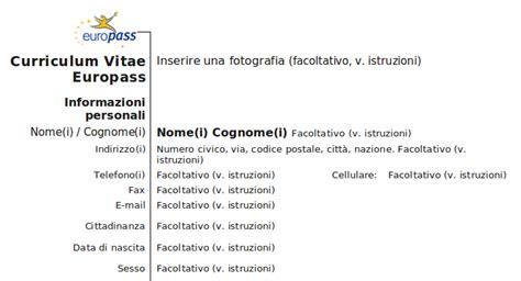 Formato Europeo Curriculum Vitae Compilato Il Nome Va Prima Cognome Formato Europeo Curriculum Vitae