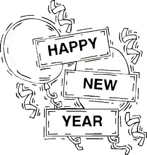 happy new year 2014 coloring pages for free coloring pages of happy new year 2014 with balloons