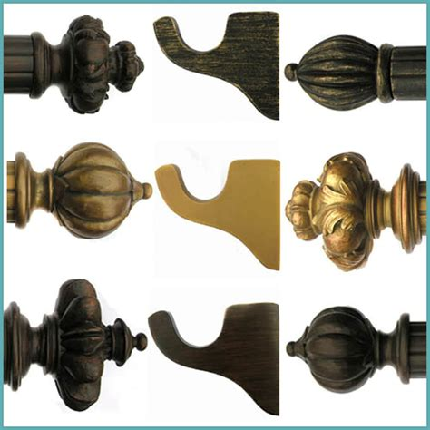 house parts drapery hardware house parts curtain rods royal fancy historical gold wood