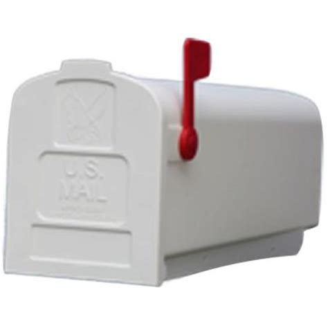 gibraltar mailboxes deluxe polybox post mount mailbox in white