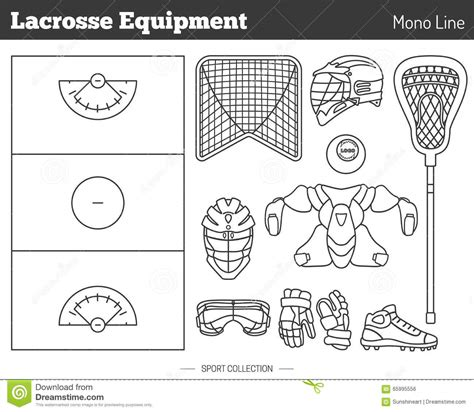 game design elements in vector from stock 2 vector lacrosse game design elements stock vector image