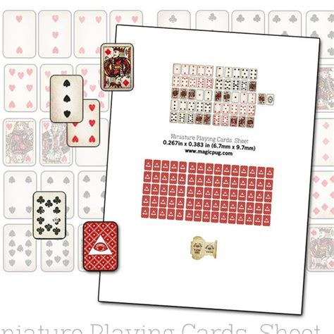cards dollhouse template printable miniature dollhouse cards with box