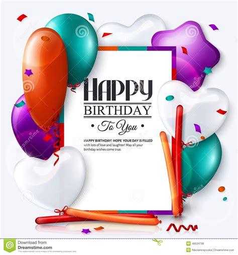 balloon birthday card template 7 balloons birthday card vector images balloons birthday