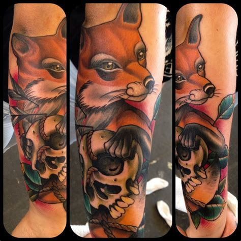 traditional fox tattoo neo traditional fox by willemxsm on deviantart
