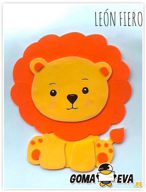 molde para goma eva de leon leon en goma eva con molde imagui