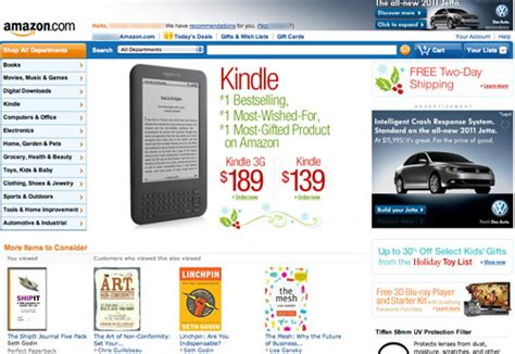 amazon home e commerce home page focus articles baymard institute