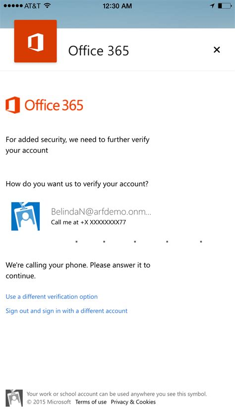 Office 365 Two Factor Authentication Outlook For Ios And Android Turns 1 Office Blogs