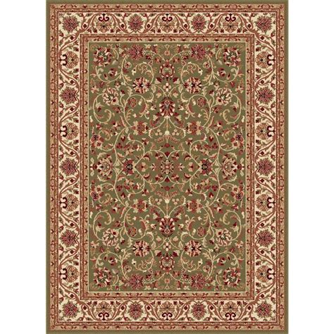 Tayse Rugs Sensation Green 6 Ft 7 In X 9 Ft 6 In Rugs Home Depot