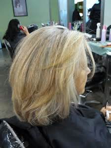 how to blend in grey hair pictures of gray hair with lowlights short hairstyle 2013