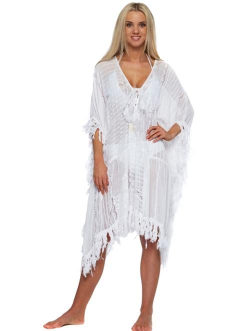 White Kaftan Dress antica sartoria white lace cotton kaftan dress