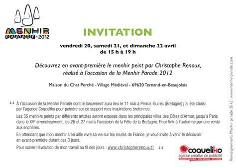 Modele Invitation Inauguration