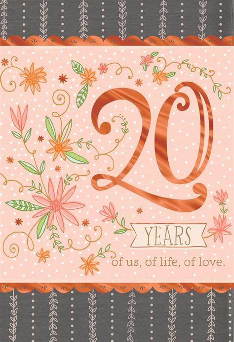 Pinkoral Th Anniversary Card Greeting Cards Hallmark