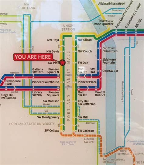 portland light rail map official map trimet max light rail portland
