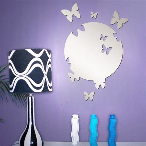 butterfly mirror wall stickers stickere onglizi butterfly mirror wall