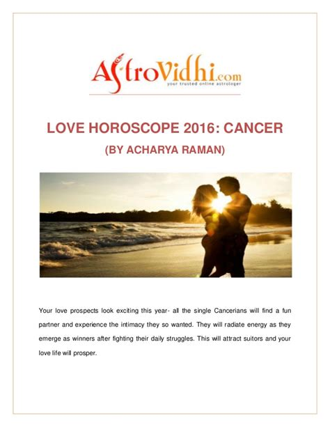love horoscope 2016 cancer