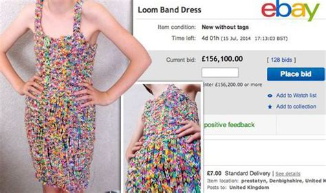 dress made from 24k loom bands sells on ebay for 170k dress made of thousands of loom bands attracts astonishing
