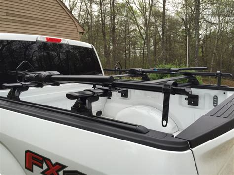 diy hitch or truck bed mounted bike carrier mtbr