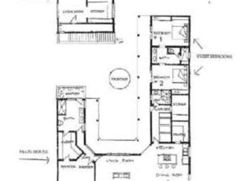 hacienda style floor plans mexican hacienda house plans