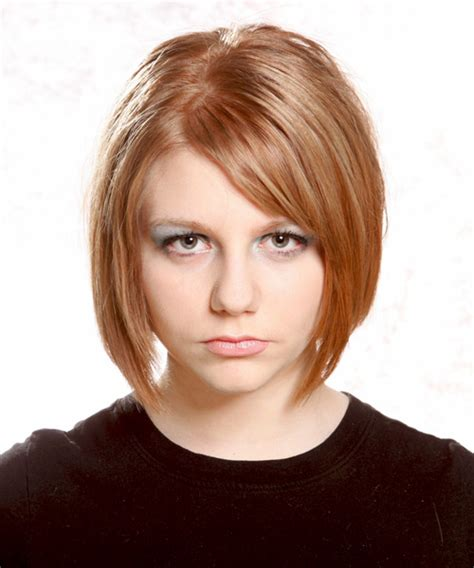casual bob hairstyles medium straight casual bob hairstyle light brunette copper