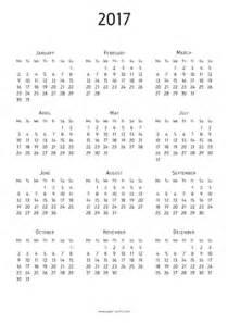 A4 Kalender 2017 Print Calendar 2017 A4 Paper For Free