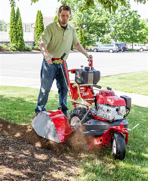 landscape bed edger commercial grade walking forward edger turf teq