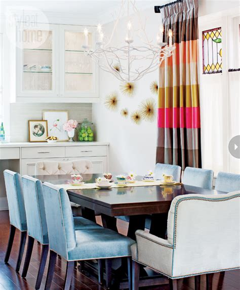 Dining Room Blue Curtains Blue Curtains Eclectic Dining Room Lonny Magazine