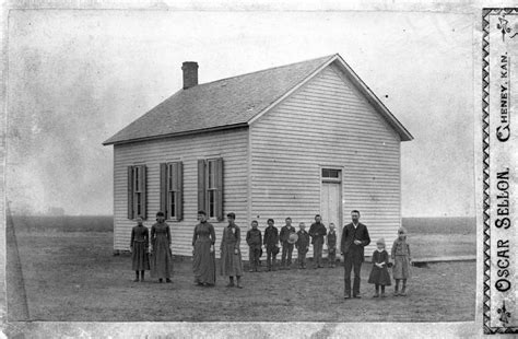 One Room Schoolhouse by Country Schools Kansapedia Kansas Historical Society