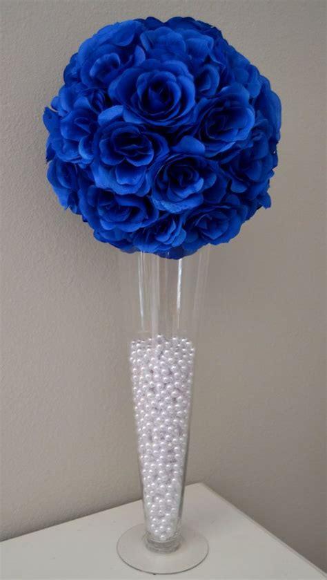 blue flowers centerpieces royal blue wedding flower wedding by