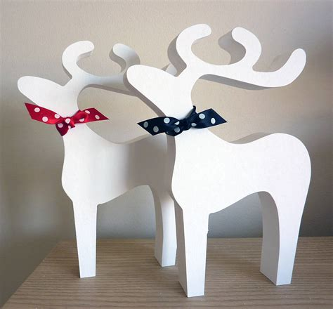 christmas reindeer decoration by little cherub design
