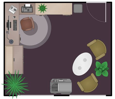 Draw Room Layout Online office layout plans solution conceptdraw com
