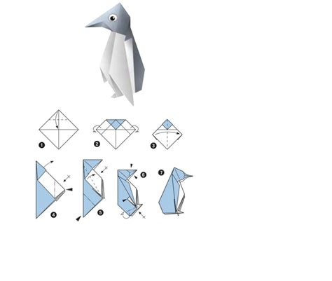Easy Penguin Origami - origami penguin hollie celebrating