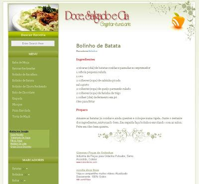 templates for blogger cooking blog templates