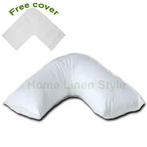 orthopaedic v shaped support pillow free cover home