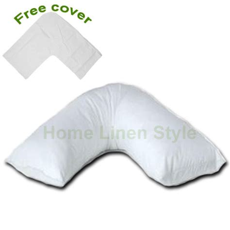 How To Make Shaped Pillow by Orthopaedic V Shaped Support Pillow Free Cover Home