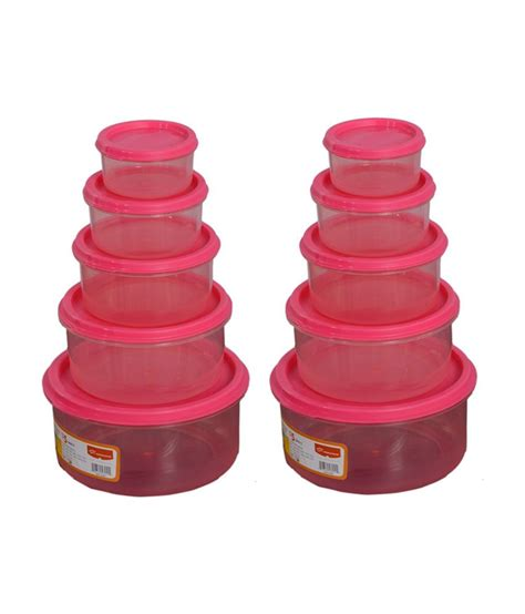 pink food storage containers princeware set of 10 food storage container pack pink